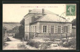 CPA Bucey-en-Othe, La Mairie Et Ecole - France