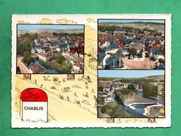 89 Yonne  Chablis Borne  Carte Multivues Aerienne Lapie Editeur - Chablis