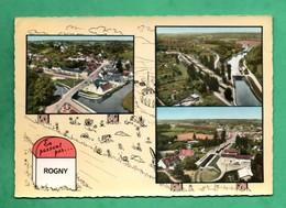 89 Yonne  Rogny Borne Carte Multivues Aerienne Lapie Editeur - Altri Comuni