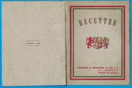 LIVRET RECETTES COMPTOIR DE L'INDUSTRIE DE L'AIL S.A. ETS F. ROCHIAS & Cie BILLOM PUY-DE-DOME / IMP B. SAUZE BILLOM - Reclame
