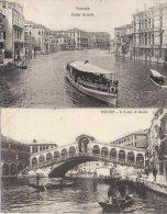 Lot 2 Postcards Venezia : Canal Grande + Il Ponte Di Rialto - Venezia