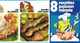 DEPLIANT 8 RECETTES POISSON MINUTE GRONDINS SAINT-TROPEZ SARDINES FREGOLI MOULES FARCIES AU PASTIS CONDRES - Publicités