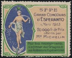 ESPERENTO - VIGNETTE - ESPERENTO - JGRAND CONCOURS D'ESPERENTO MARS 1913 - 20 000Fr DE PRIX OFFERTS PAR MR MICHELIN - Autres