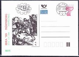 Tchéque République 1999, Entier (CDV 41), Avec Publicité Ibra 99 (P 44), Obliteré - Postal Stationery