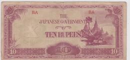 1 BILLET : GOUVERNEMENT JAPONAIS En BIRMANIE - TEN RUPERS - Emissioni Federali