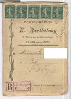 Lettre Recommandée Photographie Bartélemy à Chalon Sur Saône - Envoi De Tirages Photos - Pubblicitari
