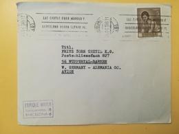 1965 BUSTA SPAGNA ESPANA BOLLO DIPINTI PAINTINGS JULIO ROMERO ANNULLO MECCANICO BARCELONA OBLITERE' - 1931-Oggi: 2. Rep. - ... Juan Carlos I
