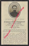 Guerre 1914-Faire-part De Décès Anicet BOUCHEQUET 110eR- époux SOOTS Mort Au Champ D'honneur En 1914 Pont De Houx - Avvisi Di Necrologio
