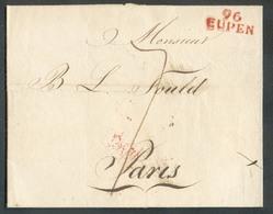 LAC De (griffe Rouge) 96/EUPEN Le 10 Juin 1809 Vers Paris; Port De '7' Décimes.  TB  - 14822 - 1794-1814 (Période Française)