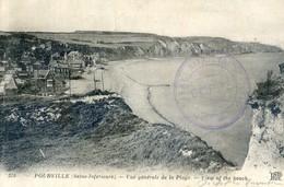 76 -  Pourville - Vue Générale De La Plage - Tampon Hopital Auxilliaire 5 Dieppe - France
