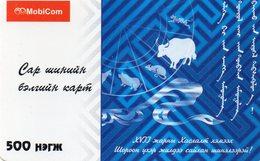 MONGOLIA - MOBICOM - ZODIAC - THE YEAR OF THE BULL - Mongolië