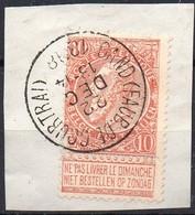 N° 57 Sur Fragment Oblitération GAND (FAUB. DE COURTRAI) - 1893-1900 Schmaler Bart