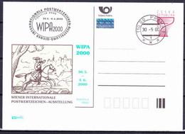 Tchéque République 2000, Entier (CDV 41), Avec Publicité Wipa 2000 (P 58), Obliteré - Postkaarten