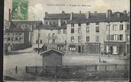 Terrenoire    Place Du Marché CPA 1923 Déchirure Centre Haut , Pli Bas Gauche - Saint Etienne