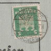 Deutsches Reich Karte Mit Tagesstempel Bielwiese Lk Wohlau RB Breslau Schlesien 1926 Werbung - Deutschland
