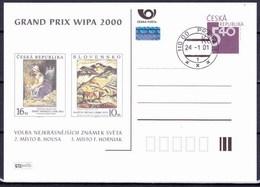 Tchéque République 2000, Entier (CDV 63), Avec Publicité Wipa 2000 (P 66), Obliteré - Postkaarten