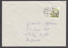 Czech Rep. - 13/1998, 8 Kc. - Animals:White Deer, Letter Ordinary - Czech Republic