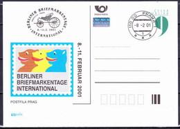 Tchéque République 2001, Entier (CDV 64), Avec Publicité Berlin 2001 (P 68), Obliteré - Postales