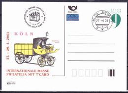 Tchéque République 2001, Entier (CDV 64), Avec Publicité Koln 2001 (P 69), Obliteré - Postales