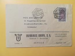 1972 BUSTA INTESTATA SPAGNA ESPANA BOLLO CASTELLO CASTLE ABBEYS ANNULLO OBLITERE' SEVILLA TIMBRO ESAGONO - 1931-Oggi: 2. Rep. - ... Juan Carlos I