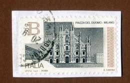 ITALIA 2016 Serie Piazze D'Italia B 50g Piazza Duomo Milano Su Frammento - 2011-...: Usati