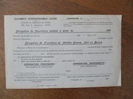 GROUPEMENTS INTERPROFESSIONNELS LAITIERS COMITE DE GESTION DU NORD 188 RUE L. GAMBETTA LILLE COMMUNE CARTIGNIES 194 - Historische Dokumente