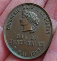 JETON INDUSTRIE LOURDE Bal Du Centenaire De La Révolution 1889 RARE Etat SUP Type : Bal Du Centenaire De La Révolution D - Other