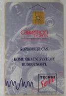 SCHEDE TELEFONICHE, CECOSLOVACCHIA, BASSA TIRATURA 30.000 ESEMPLARI - Tsjechoslowakije