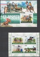 TG1227 2010 TOGO TOGOLAISE SPORT HORSES LES SPORTS HIPPIQUES 1KB+1BL MNH - Horses
