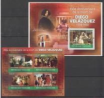 TG1232 2010 TOGO TOGOLAISE ART DIEGO VELAZQUEZ 1KB+1BL MNH - Other
