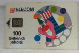 SCHEDE TELEFONICHE, CECOSLOVACCHIA  PAGLIACCIO, CLOWN - Tchécoslovaquie