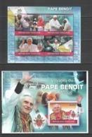 TG1236 2010 TOGO TOGOLAISE RELIGION POPE BENOIT VISITS AFRICA 1KB+1BL MNH - Popes