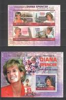 TG1237 2010 TOGO TOGOLAISE FAMOUS PEOPLE ROYALS PRINCESS DIANA 1KB+1BL MNH - Royalties, Royals