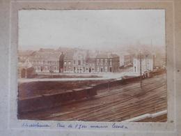 Photo Originale Chemin De Fer Châtelineau Vers 1920-30 / Rue De L'Yser / Train - Lieux