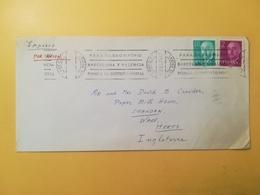 1974 BUSTA SPAGNA ESPANA BOLLO GENERALE FRANCO GENERAL ANNULLO OBLITERE' MECCANICO ARRECIFE LAS PALMAS - 1931-Oggi: 2. Rep. - ... Juan Carlos I