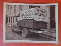 Photo Originale Vers 1930 Chicorée Rochet à Châtelineau / Camion De Livraison En Gros Plan - Automobiles