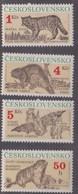 Czechoslovakia Scott 2804-2807 1990 Protected Animals, Mint Never Hinged - Czechoslovakia
