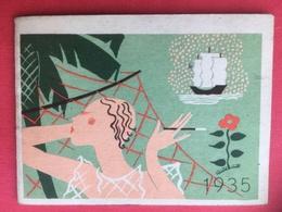 1935 TABAC RÉGIE FRANCAISE  Mini Calendrier Miniature Publicité Cigares Cigarettes Coffrets Magnat Gitanes Chasseur Etc. - Kalenders