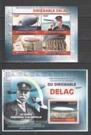 TG1293 2010 TOGO TOGOLAISE TRANSPORT AVIATION ZEPPELINS DIRIGEABLE DELAG 1KB+1BL MNH - Zeppelins