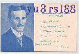 QSL Cards - YU 3 Rs 188 Yugoslav Shortwave Amateur Station - Yugoslavia - Radio Amatoriale