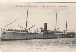 ***  Compagnie De Navigation France Amérique MARSEILLE Paquebot ITALIE - Neuve Excellent état - Paquebots