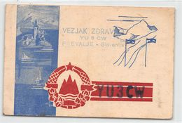 QSL Cards - YU 3 CW  Yugoslav Amateur Station - Yugoslavia - Slovenije - Sloveija - Prevalje - Radio Amateur
