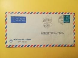 1975 BUSTA INTESTATA SPAGNA ESPANA BOLLO GENERALE FRANCO GENERAL ANNULLO OBLITERE' MADRID TIMBRO ESAGONO - 1931-Today: 2nd Rep - ... Juan Carlos I
