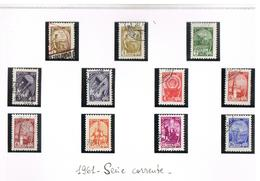URSS  - SG 2523.2530  - 1961 DEFINITIVES (OFFSET AND/OR CHALCOGRAPHY)   - USED ° - RIF. CP - 1923-1991 USSR