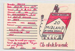 QSL Cards  - Yugoslavia - Delta - Midland 20 Class Canal - Cb Electronik - Radio Amatoriale
