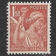 France 1944 - Type Iris 1f. 50 Rouge-brun - Y&T N° 652 ** Neuf Sans Charnière (gomme D'origine Intacte). - 1939-44 Iris