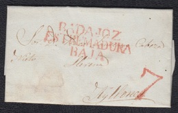 1838.- BADAJOZ A AYLLONES( BADAJOZ) - España
