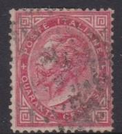Italy S 20 1863 King Victor Emmanuel II,40c Carmine, Used,short Perforation - 1861-78 Vittorio Emanuele II