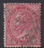 Italy S 20 1863 King Victor Emmanuel II,40c Carmine, Used,short Perforation - 1861-78 Victor Emmanuel II.