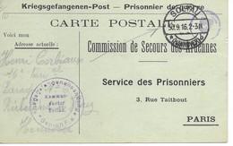 Ardennes  Givet  Henri Corbiaux  Soltau  Prisonnier - Poststempel (Briefe)